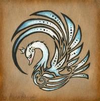 Royal swan - tattoo design by AlviaAlcedo