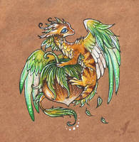 Little hazelnut dragon by AlviaAlcedo