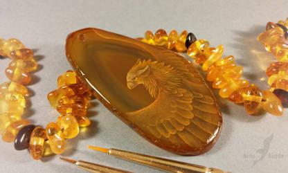 Golden gryphon by AlviaAlcedo