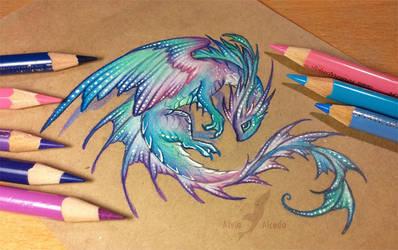 Water pearl dragon by AlviaAlcedo