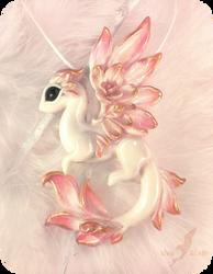 Albino rose dragon by AlviaAlcedo