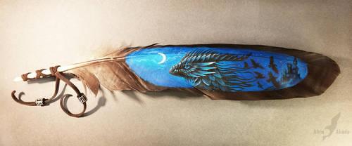 Night dragon by AlviaAlcedo