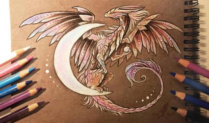 Moon dragon by AlviaAlcedo