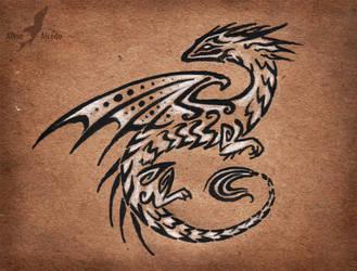 Dark obsidian dragon by AlviaAlcedo