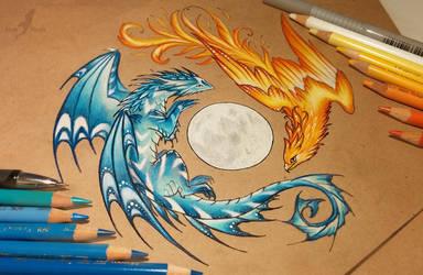 Dance of fire and water by AlviaAlcedo