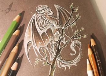 White spring dragon by AlviaAlcedo