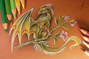 Forest flower dragon by AlviaAlcedo