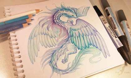 Reading dragon by AlviaAlcedo