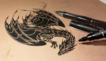 Black water dragon by AlviaAlcedo