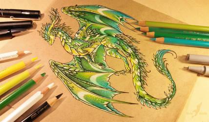 Summer forest dragon by AlviaAlcedo
