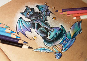 Magic black cat by AlviaAlcedo