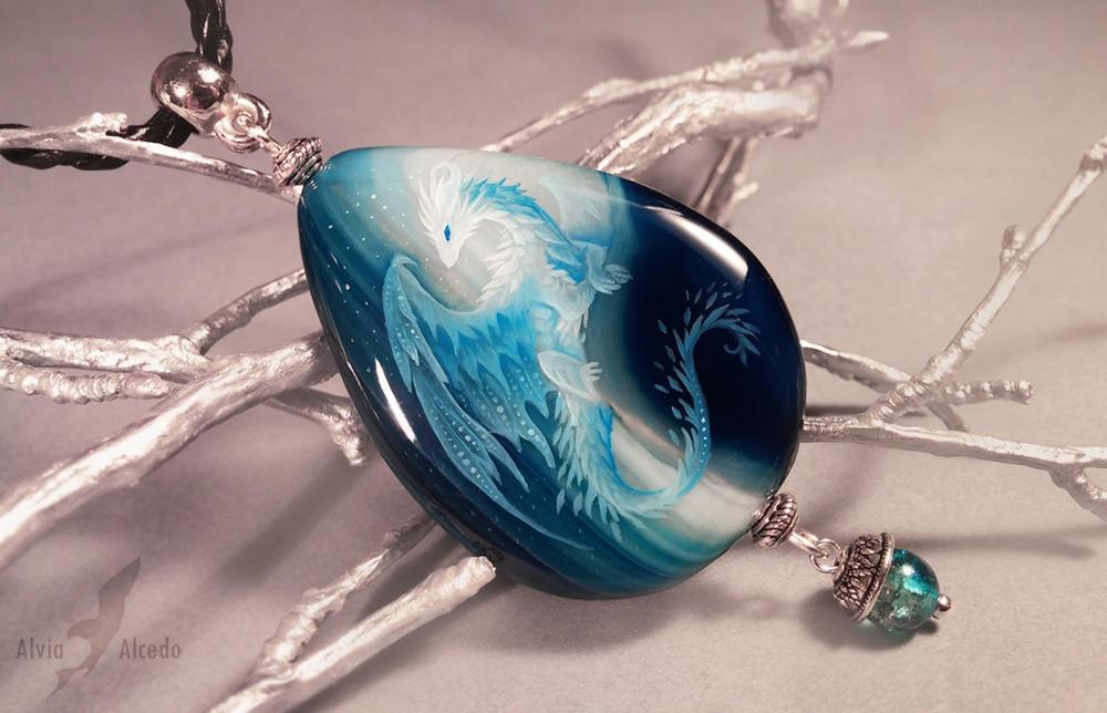 Blue Ice dragon by AlviaAlcedo