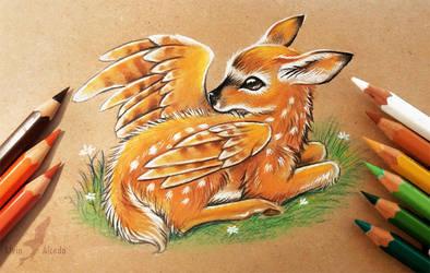 Winged fawn by AlviaAlcedo