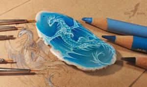 Azure dragon [WIP] by AlviaAlcedo