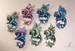 Dragon pendants by AlviaAlcedo