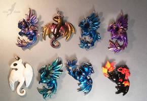 Shiny dragons by AlviaAlcedo