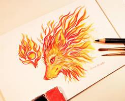 Fire fox by AlviaAlcedo