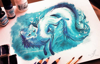 Winter fox by AlviaAlcedo