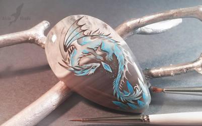 Blue crystal dragon by AlviaAlcedo