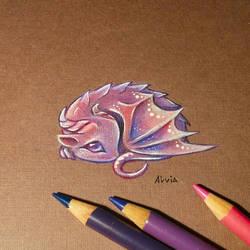 Little dragon by AlviaAlcedo