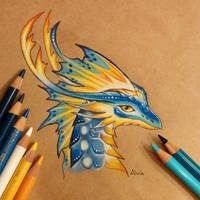 Tropical dragon by AlviaAlcedo