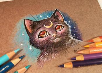 Cat Luna by AlviaAlcedo
