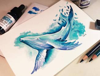 Whale dreams by AlviaAlcedo