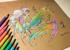 Rainbow mermaid by AlviaAlcedo