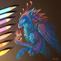 Fairy gryphon by AlviaAlcedo