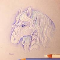 White kirin sketch by AlviaAlcedo