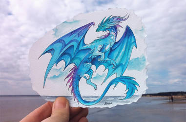 Sunset water dragon by AlviaAlcedo