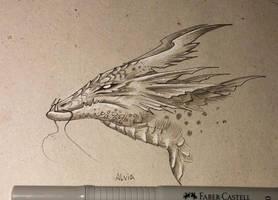 Swamp dragon by AlviaAlcedo
