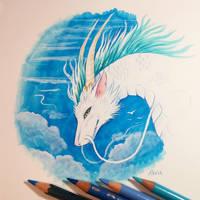 Haku the dragon by AlviaAlcedo