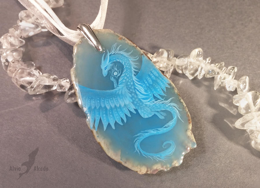 Blue air dragon by AlviaAlcedo