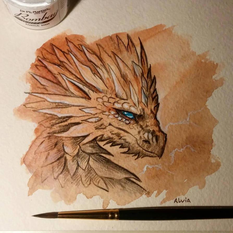 Mountain dragon by AlviaAlcedo