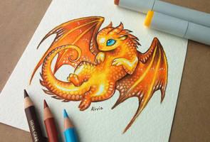 Mom dragon's little treasure by AlviaAlcedo