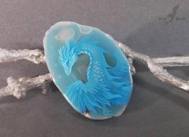Blue water dragon by AlviaAlcedo