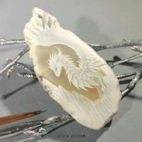 Snow dragon  by AlviaAlcedo