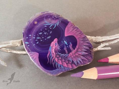 Violet crystal dragon by AlviaAlcedo