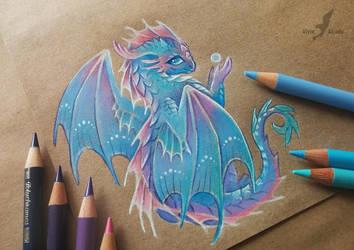 Baby water dragon by AlviaAlcedo