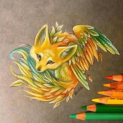 Little fox of nature by AlviaAlcedo