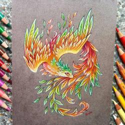 Phoenix of autumn by AlviaAlcedo