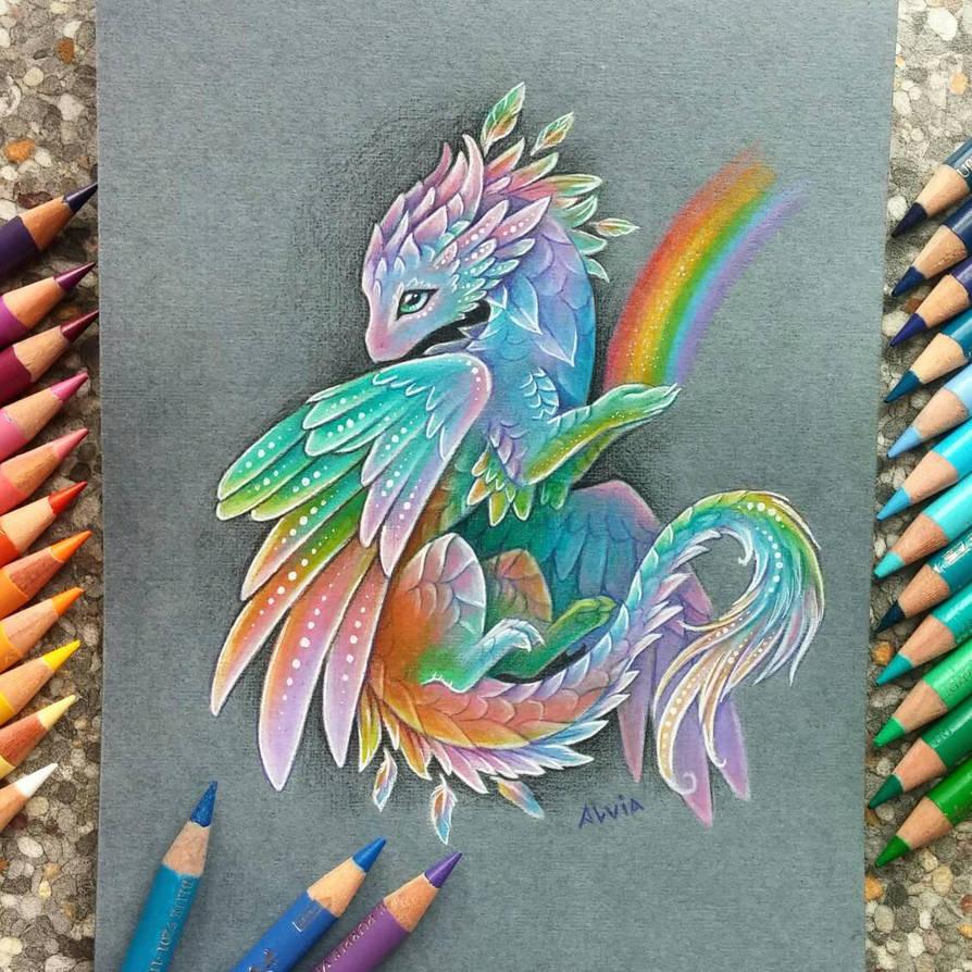 Rainbow dragon by Alvi...