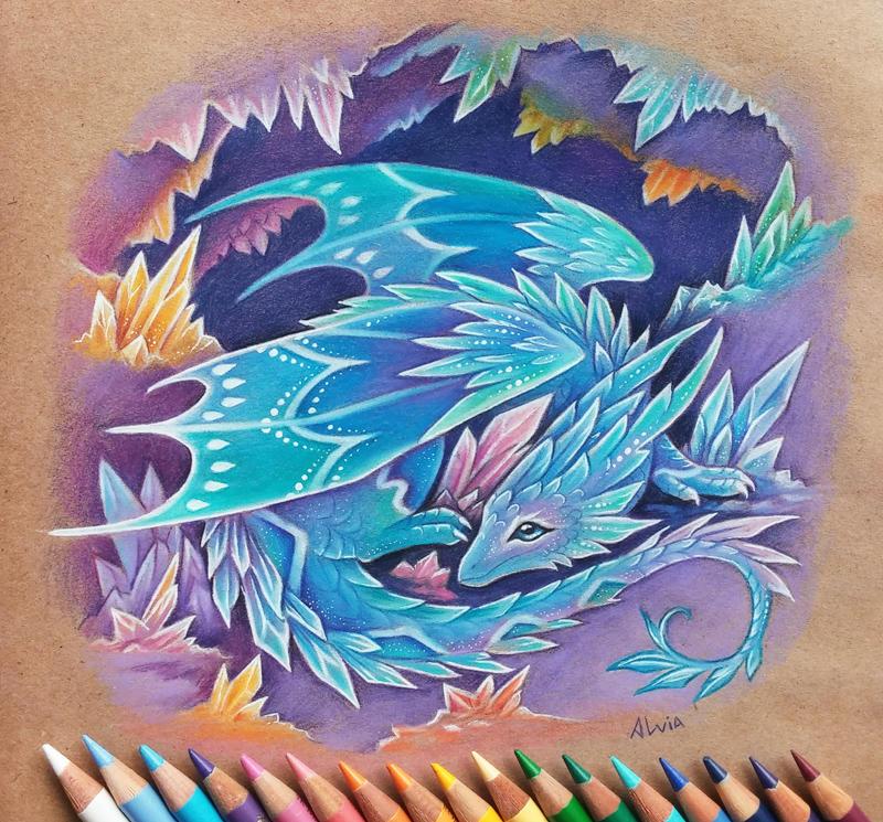 Crystal dragon by AlviaAlcedo