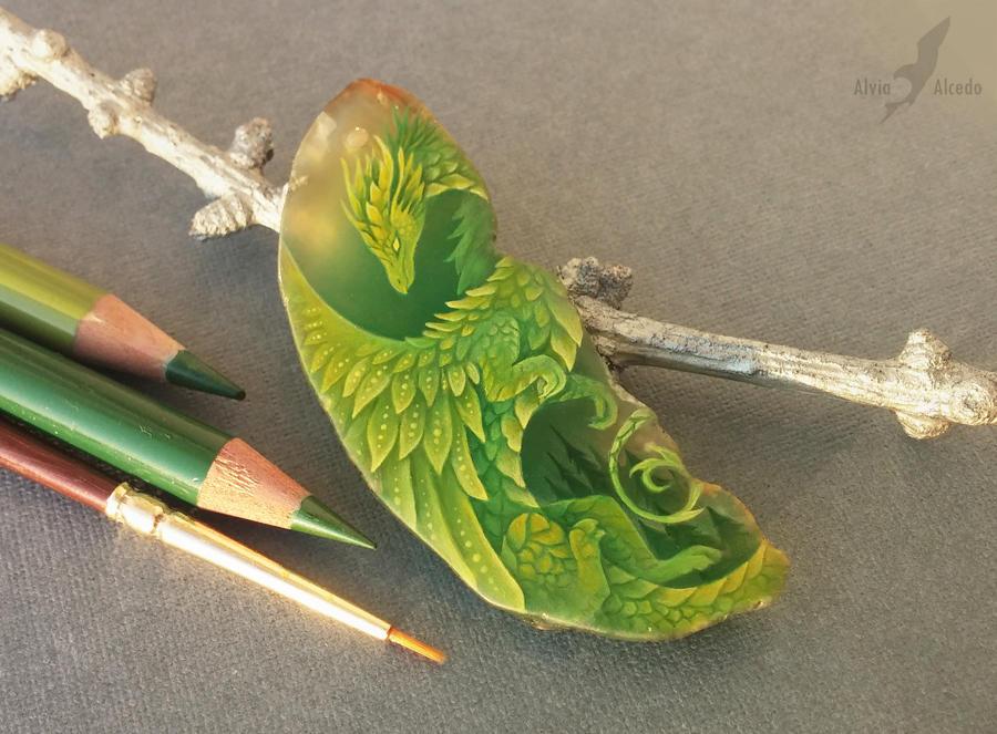 Emerald forest dragon by AlviaAlcedo