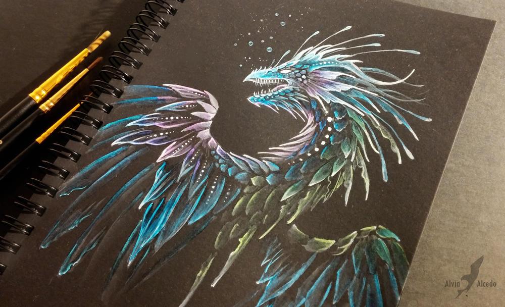 Deep ocean dragon by AlviaAlcedo