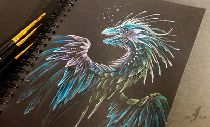 Deep ocean dragon by AlviaAlcedo