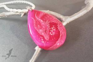 Dragon of cherry blossom by AlviaAlcedo
