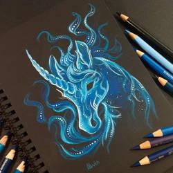 Unicorn patronus by AlviaAlcedo