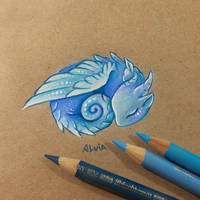 Baby air dragon by AlviaAlcedo